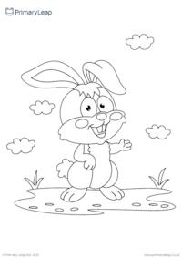 Rabbit colouring page