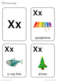 X sound flashcards