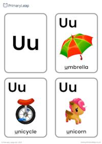 U sound flashcards