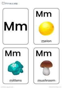 M sound flashcards