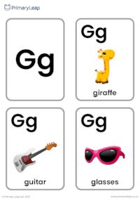 G sound flashcards