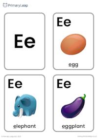 E sound flashcards