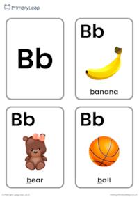 B sound flashcards