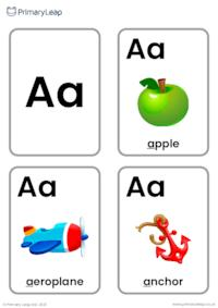 A sound flashcards