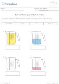 Full, half full, a quarter full, or empty