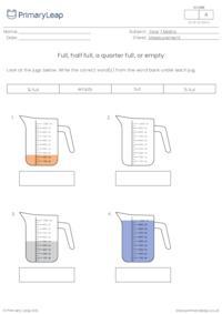 Full, half full, a quarter full, or empty (2)