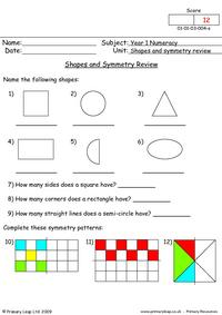 Shapes and symmetry review