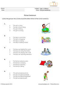 Picture sentences