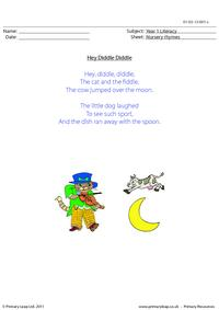 Nursery rhyme - Hey diddle diddle