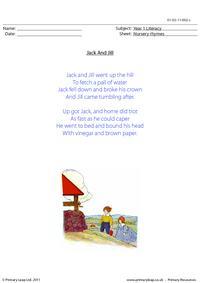 Nursery rhyme - Jack and Jill