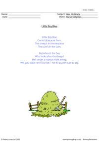 Nursery rhyme - Little boy blue