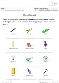Different materials