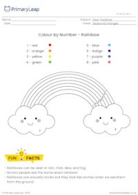Rainbow Colour by Number Activity