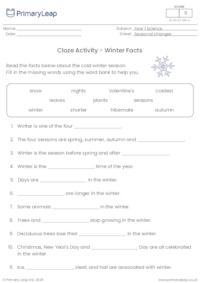 Winter Cloze Activity