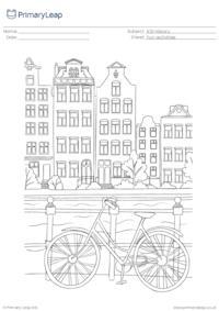 Promenade colouring page