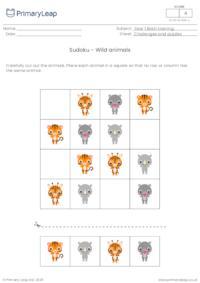 Sudoku - Wild animals