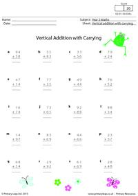 Vertical Addition with Carrying