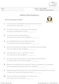 Y2 Addition Word Problems 2