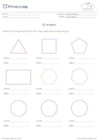 Name 2D shapes