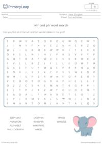 wh and ph word search