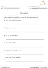 Word order 8