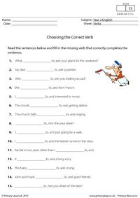 Choosing the Correct Verb - is, am or are (2)