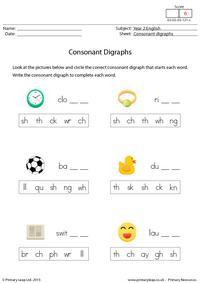Consonant Digraphs