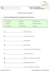 Completing sentences (9)