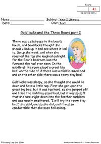 Goldilocks and the three bears part 2