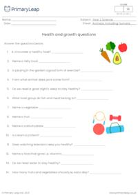 Health and growth questions