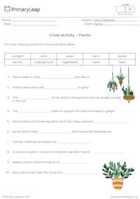 Plants cloze activity