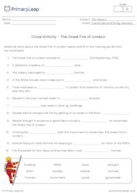 Cloze Activity - The Great Fire of London