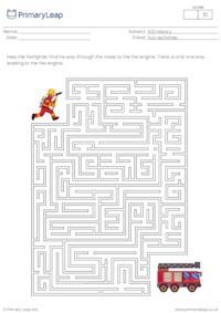 Maze - Find the fire engine