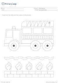 Line tracing - Fire engine
