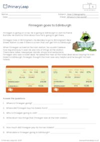 Finnegan goes to Edinburgh