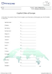 Capital Cities of Europe