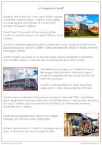 Reading comprehension - Cardiff
