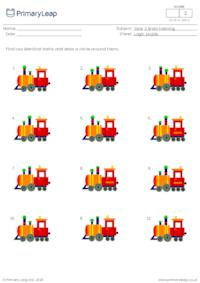 Find two identical pictures - Trains