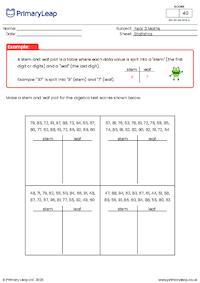 Stem and Leaf Plot Diagram (1)