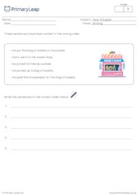 Ordering sentences 1