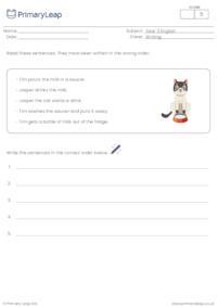 Ordering sentences 2