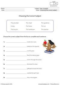 Choosing the Correct Subject