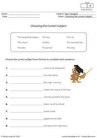Choosing the Correct Subject (2)