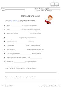 Using Did and Done