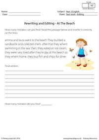 Rewriting and Editing - At the Beach