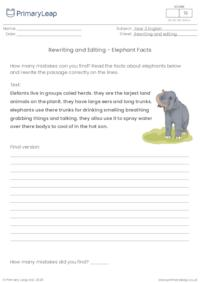 Rewriting and Editing - Elephant Facts