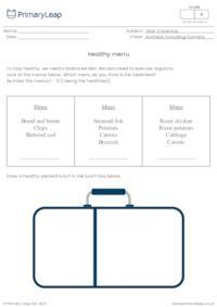 Healthy menu