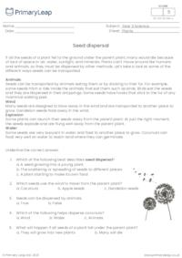 Seed dispersal questions