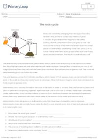 Reading comprehension - The Rock Cycle