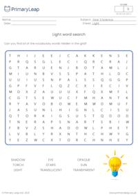 Light and shadow word search